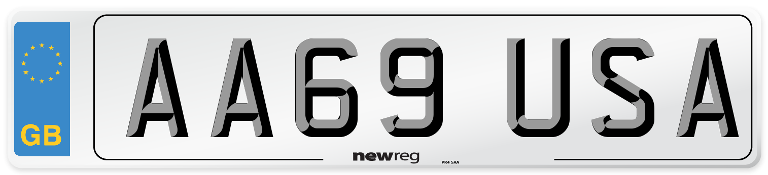 AA69 USA Number Plate from New Reg