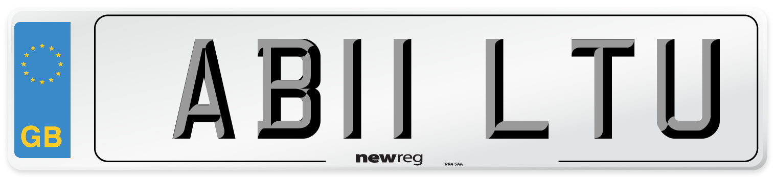AB11 LTU Number Plate from New Reg