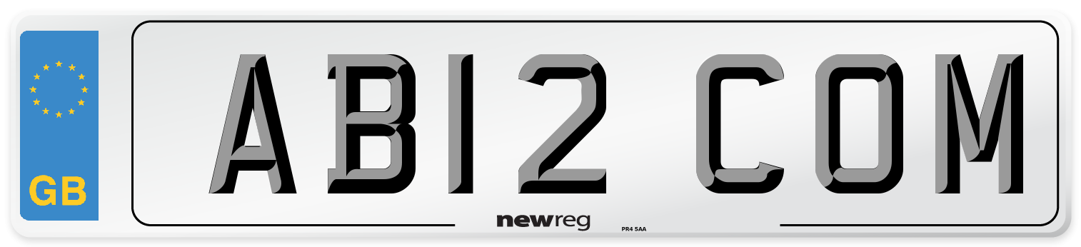 AB12 COM Number Plate from New Reg