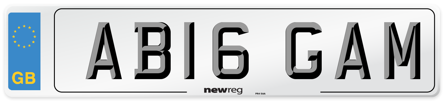 AB16 GAM Number Plate from New Reg