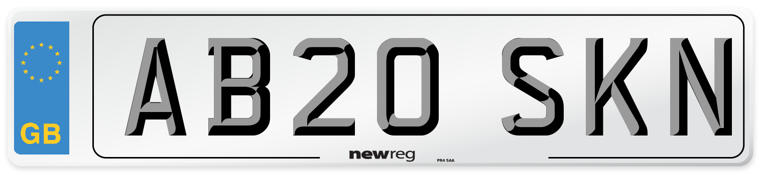 AB20 SKN Number Plate from New Reg