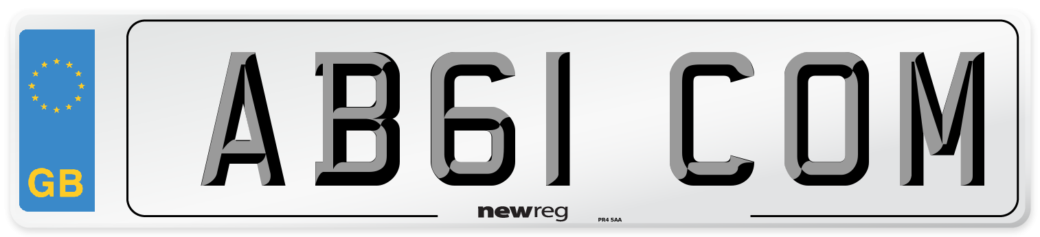 AB61 COM Number Plate from New Reg