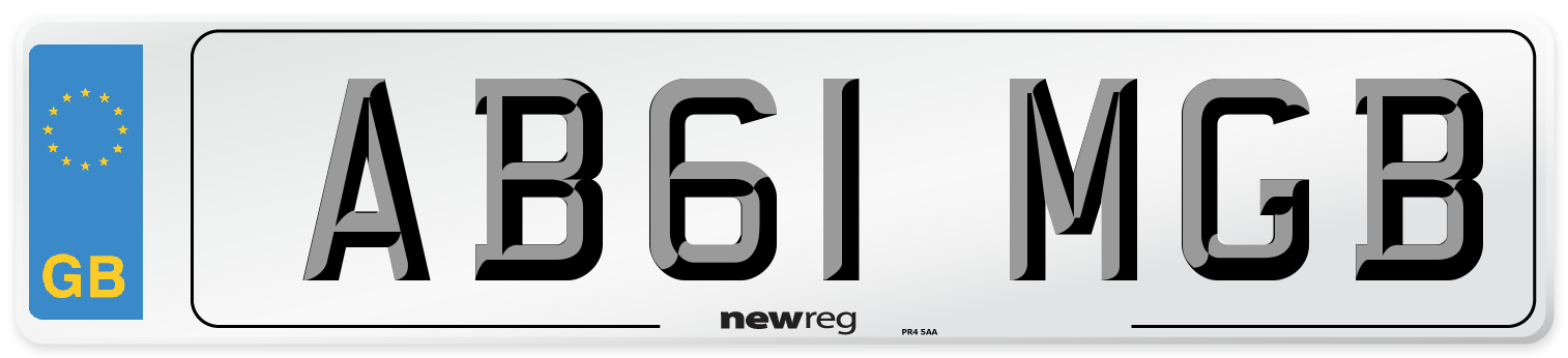 AB61 MGB Number Plate from New Reg