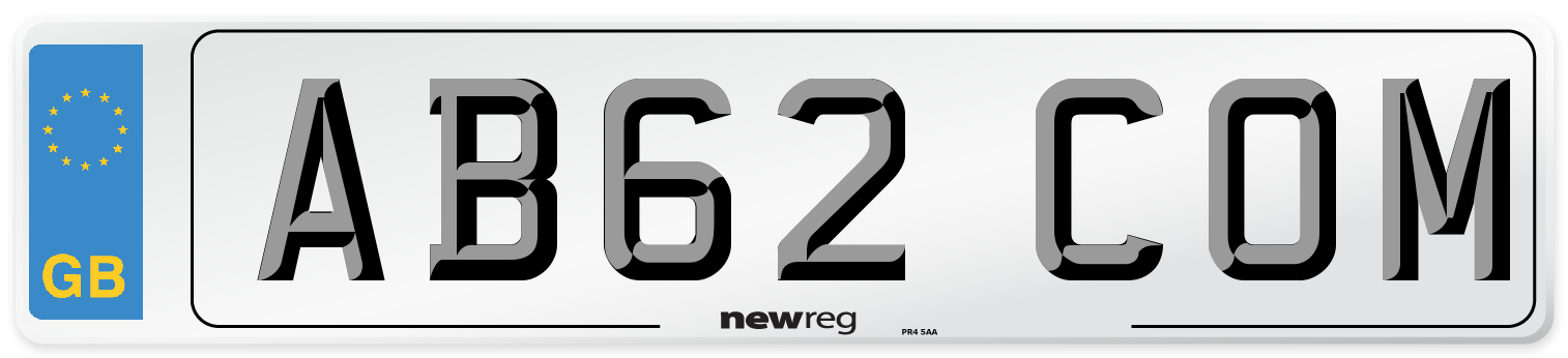 AB62 COM Number Plate from New Reg