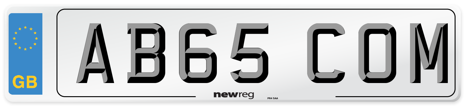 AB65 COM Number Plate from New Reg