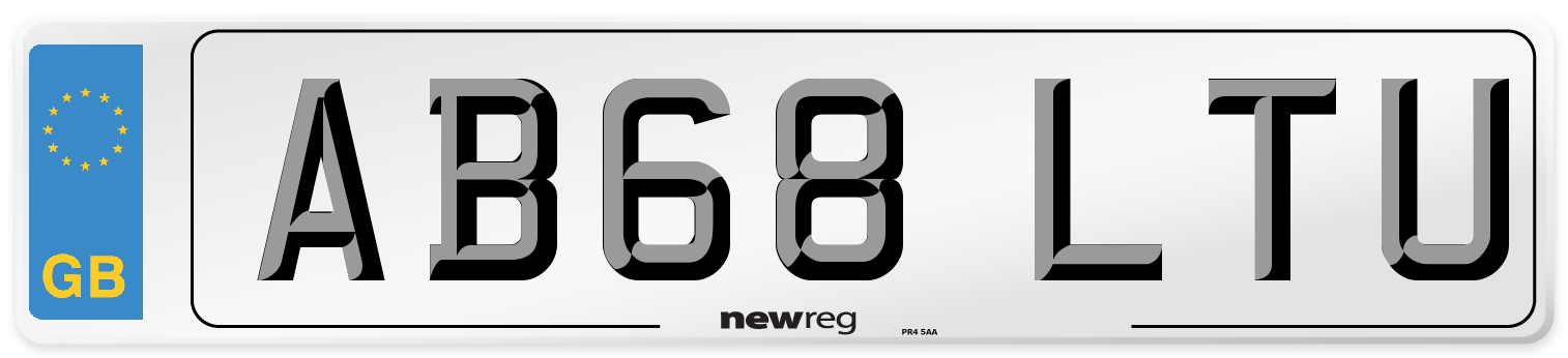 AB68 LTU Number Plate from New Reg
