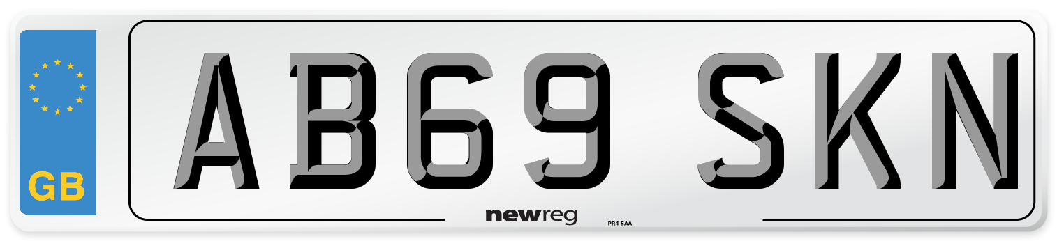 AB69 SKN Number Plate from New Reg