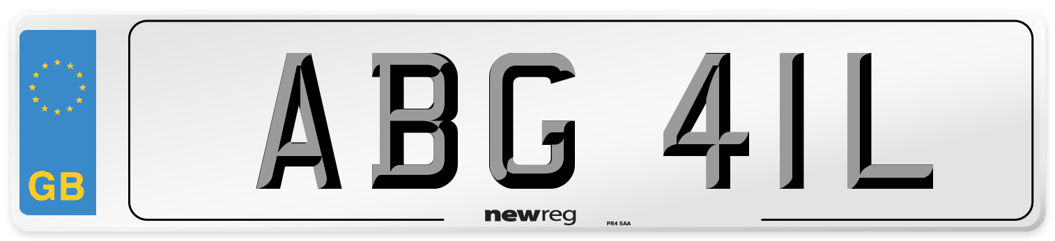 ABG 41L Number Plate from New Reg
