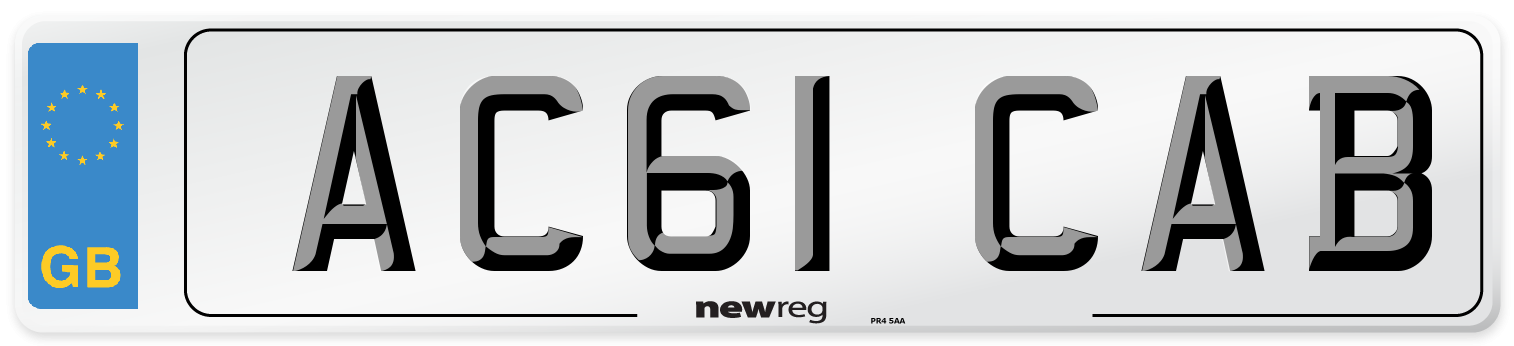 AC61 CAB Number Plate from New Reg