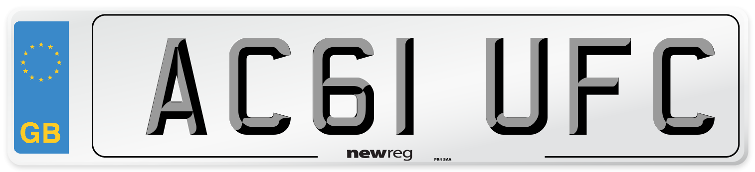 AC61 UFC Number Plate from New Reg