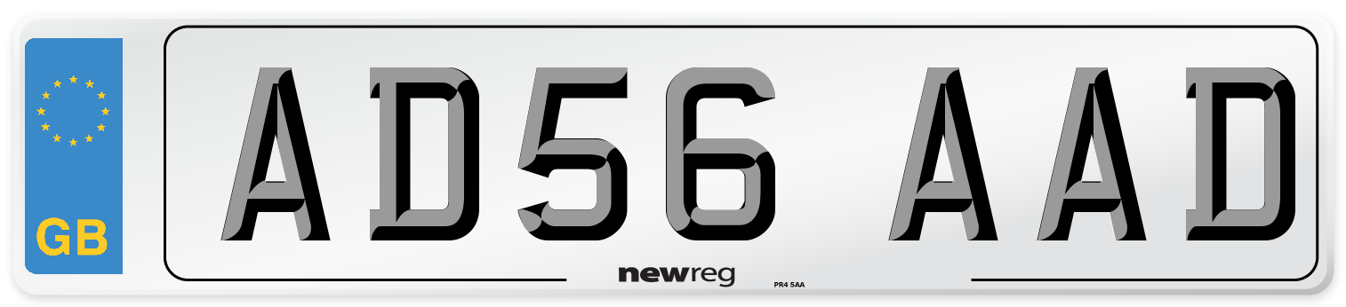 AD56 AAD Number Plate from New Reg