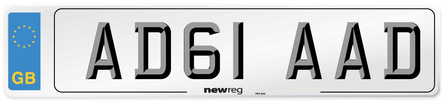 AD61 AAD Number Plate from New Reg