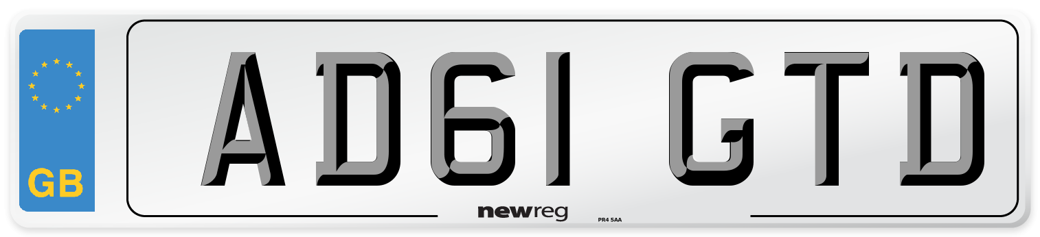 AD61 GTD Number Plate from New Reg
