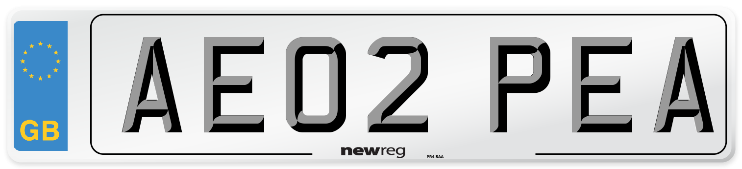 AE02 PEA Number Plate from New Reg