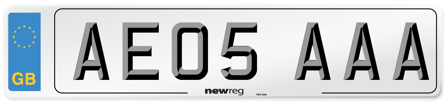 AE05 AAA Number Plate from New Reg