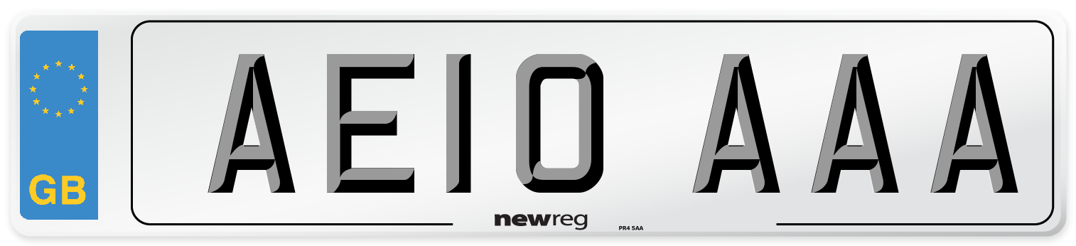 AE10 AAA Number Plate from New Reg