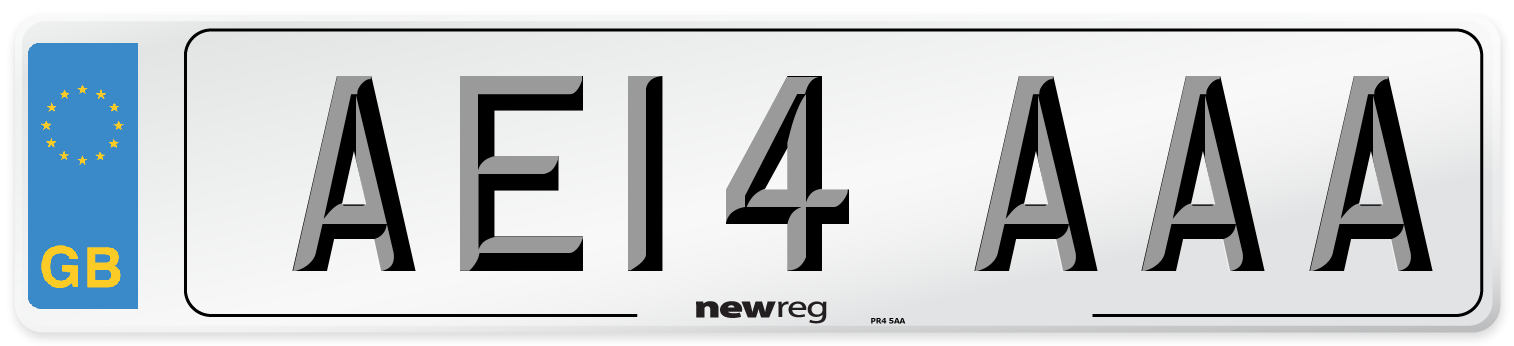 AE14 AAA Number Plate from New Reg