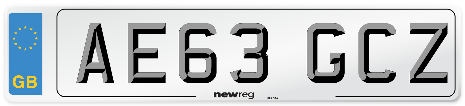 AE63 GCZ Number Plate from New Reg
