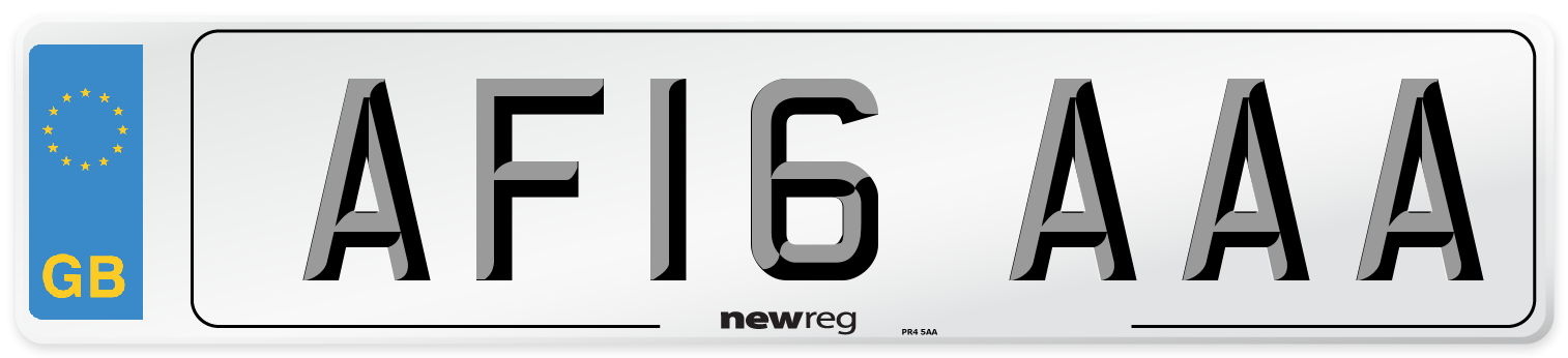 AF16 AAA Number Plate from New Reg