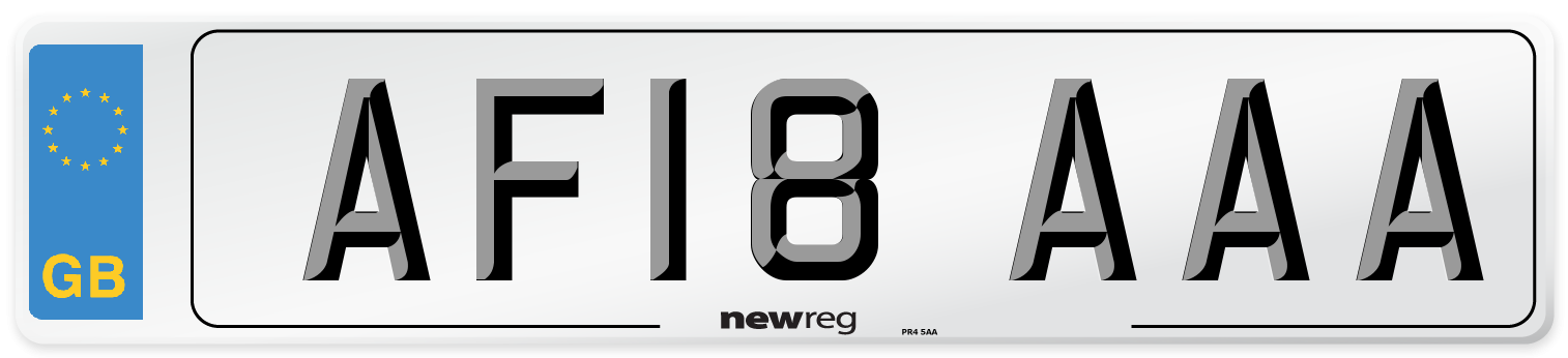 AF18 AAA Number Plate from New Reg