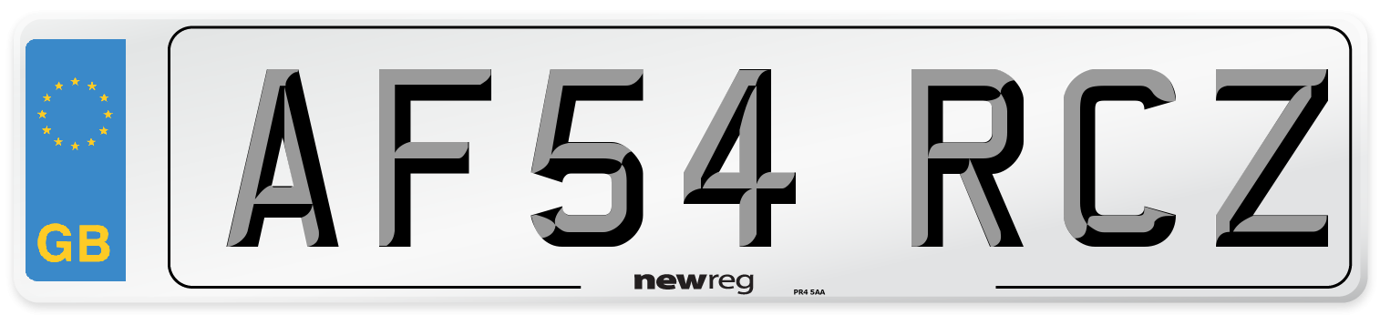 AF54 RCZ Number Plate from New Reg