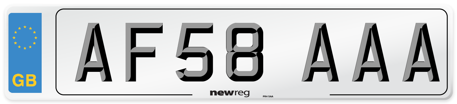 AF58 AAA Number Plate from New Reg