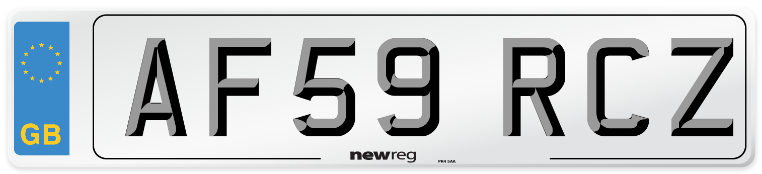 AF59 RCZ Number Plate from New Reg