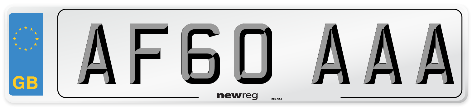 AF60 AAA Number Plate from New Reg