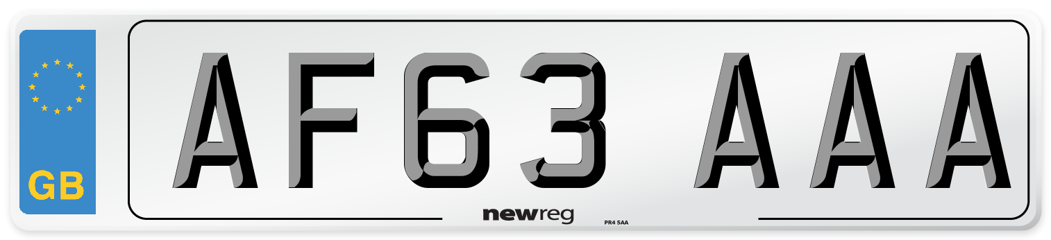 AF63 AAA Number Plate from New Reg
