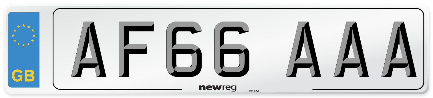 AF66 AAA Number Plate from New Reg