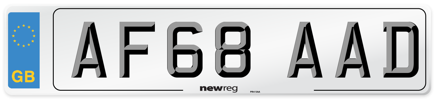 AF68 AAD Number Plate from New Reg