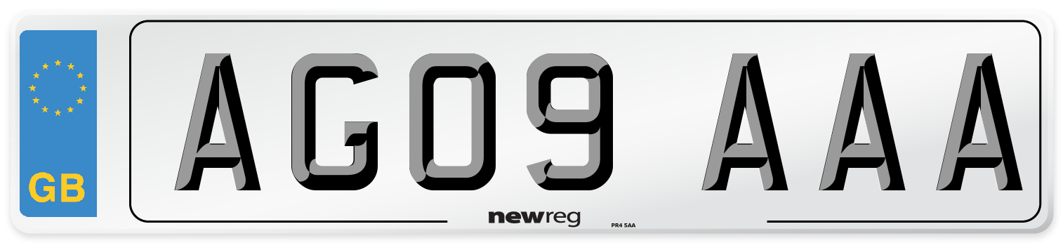 AG09 AAA Number Plate from New Reg