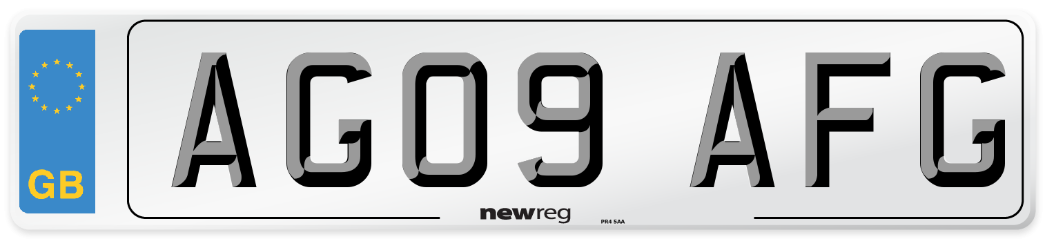 AG09 AFG Number Plate from New Reg