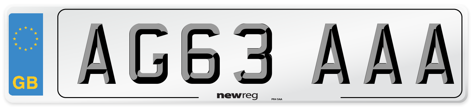 AG63 AAA Number Plate from New Reg