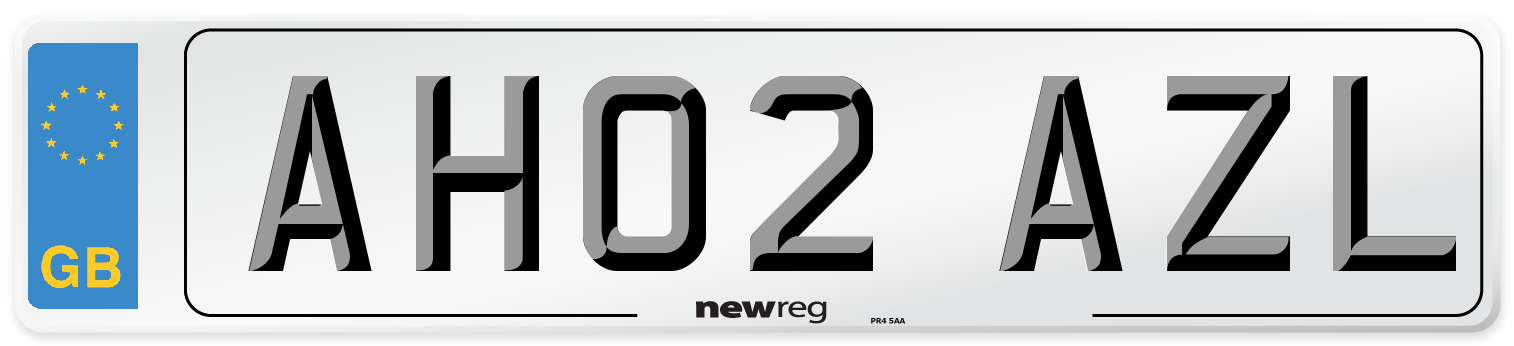 AH02 AZL Number Plate from New Reg