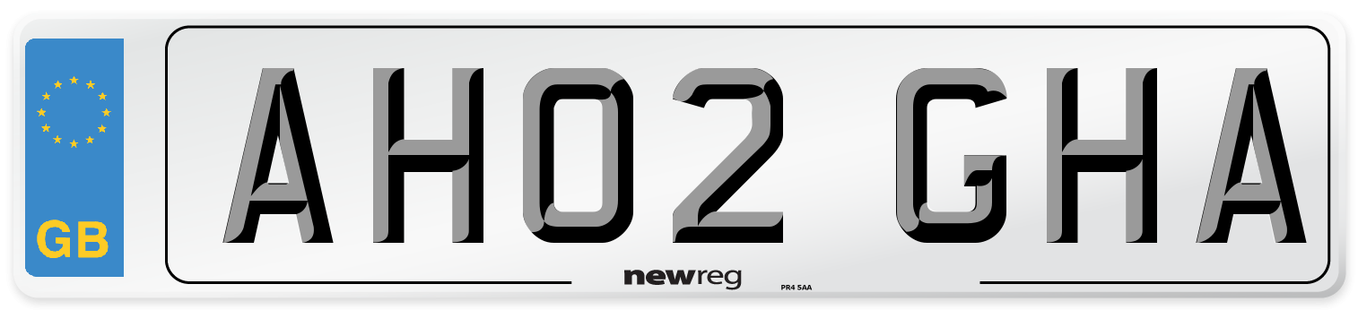 AH02 GHA Number Plate from New Reg