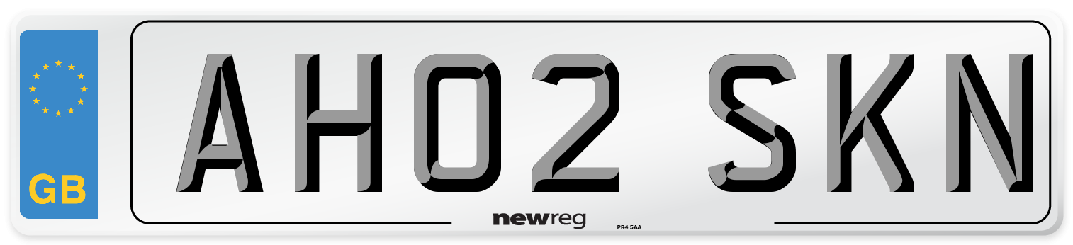 AH02 SKN Number Plate from New Reg