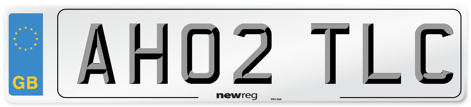 AH02 TLC Number Plate from New Reg
