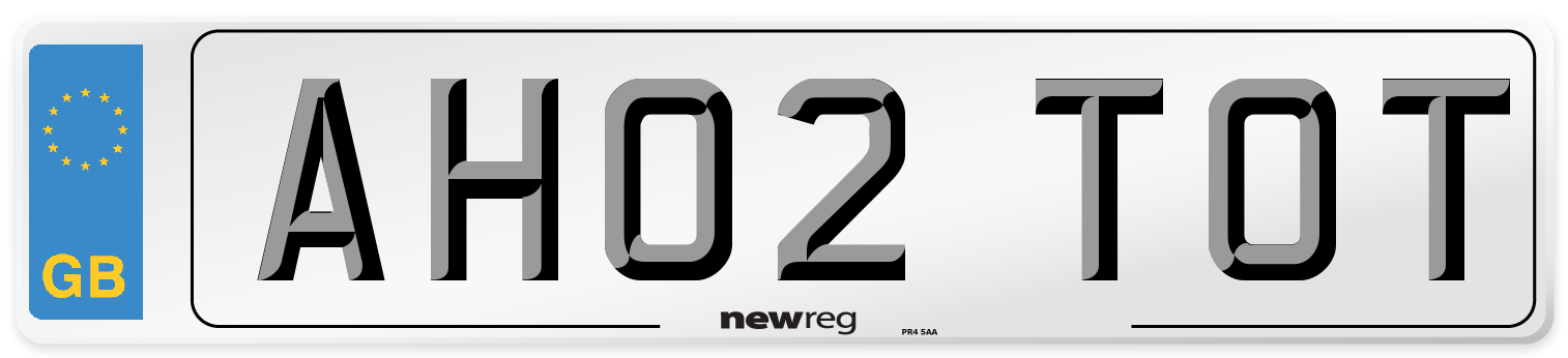 AH02 TOT Number Plate from New Reg