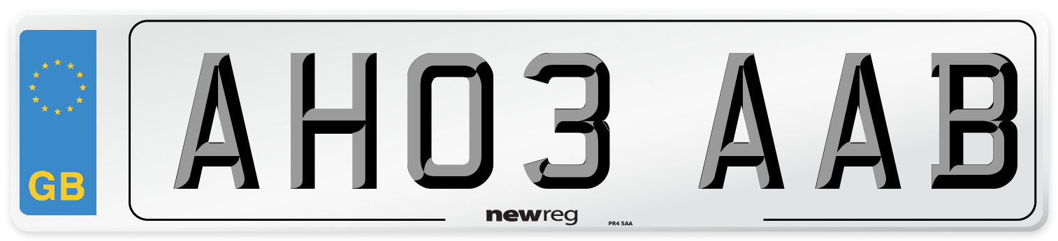AH03 AAB Number Plate from New Reg