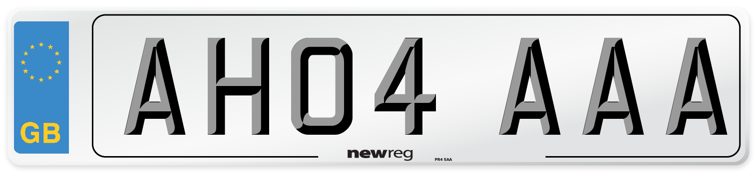 AH04 AAA Number Plate from New Reg