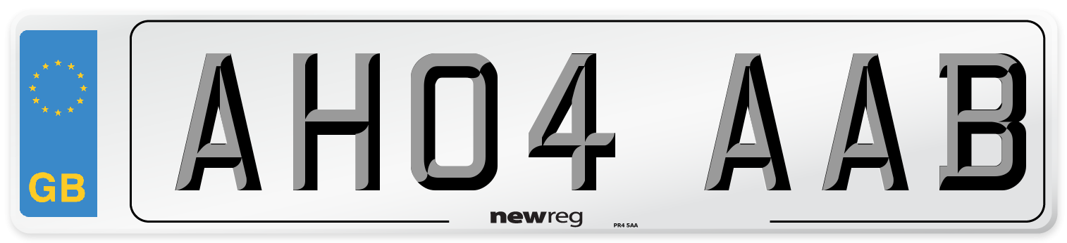 AH04 AAB Number Plate from New Reg