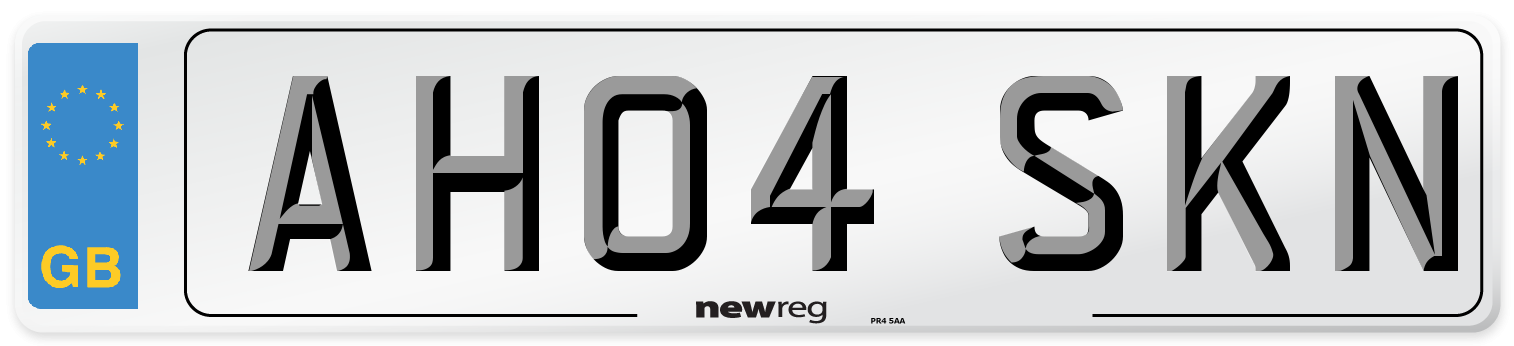 AH04 SKN Number Plate from New Reg