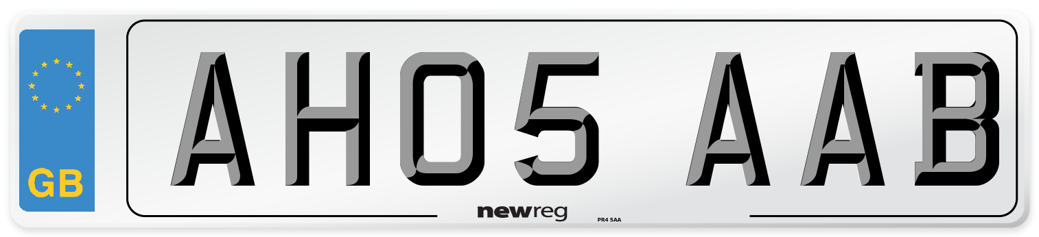 AH05 AAB Number Plate from New Reg