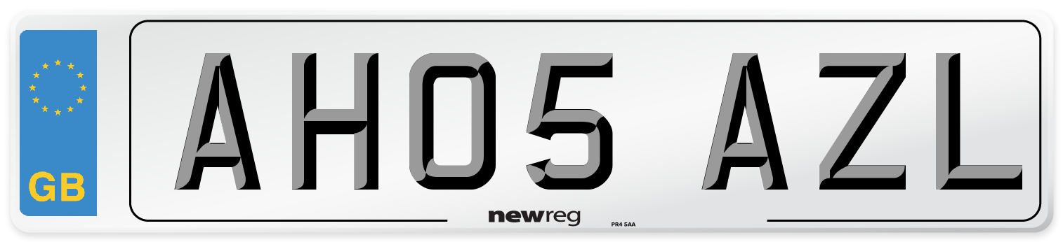 AH05 AZL Number Plate from New Reg