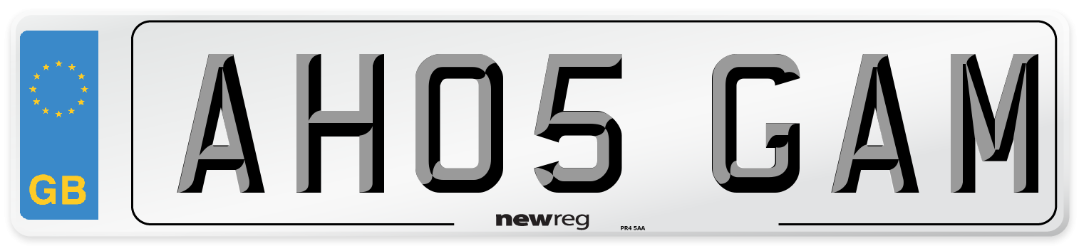 AH05 GAM Number Plate from New Reg