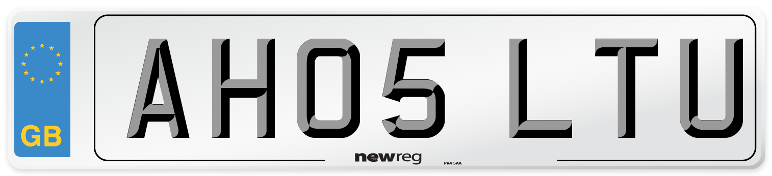 AH05 LTU Number Plate from New Reg