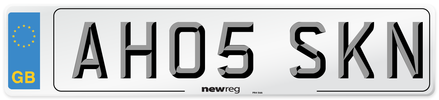 AH05 SKN Number Plate from New Reg