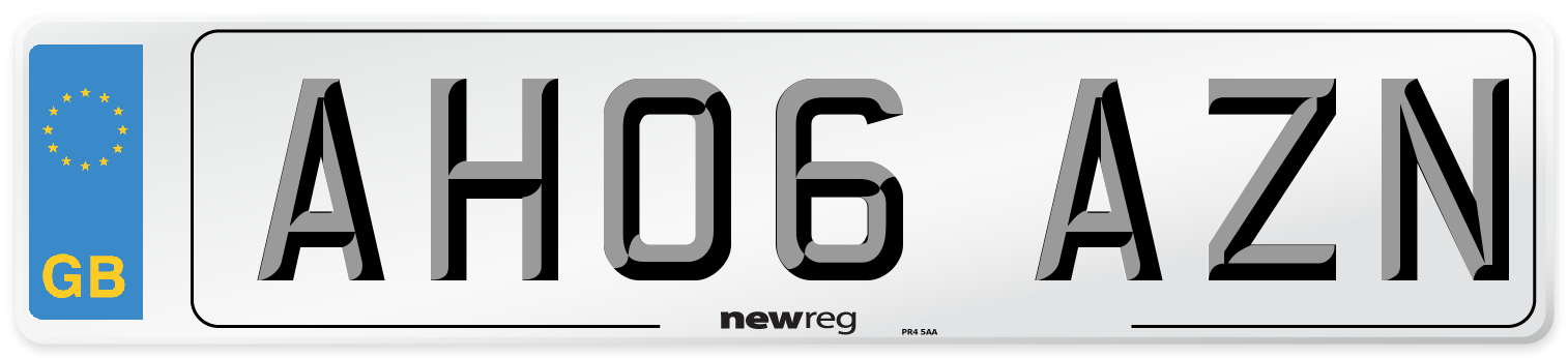 AH06 AZN Number Plate from New Reg
