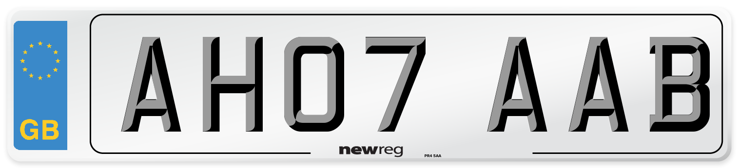 AH07 AAB Number Plate from New Reg